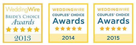 WeddingWire award badges